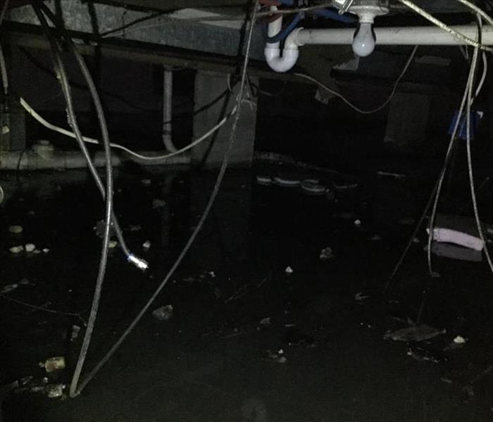 Foot of water in Crawl Space
