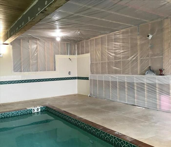 Sprinkler Affected Pool Room After